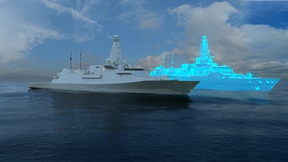 The Real and Digital Twin of a Surface Ship